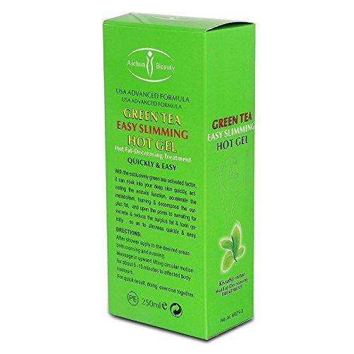 AICHUN BEAUTY Green Tea Paprika Slimming Gel Full-Body Fat Burning Fast Weight Lose Product Slim Abdomen Anti Cellulite Weight Loss Cream 250g (Green Tea) 4