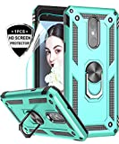 LeYi LG Tribute Empire Case,LG Aristo 3/Aristo 2/Rebel 4 LTE/Aristo 2 Plus/Phoenix 4/Tribute Dynasty/Zone 4 Phone Cases with HD Screen Protector, Magnetic Car Mount Ring Holder Stand Cover, Mint