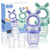 ANGELBLISS Tétine d'alimentation pour bébé/Tétine à fruit/tetine grignoteuse bebe/Anneau d'Alimentation soulage les gencives- Jouet de dentition pour bébé, sans BPA (Paquet de 2)
