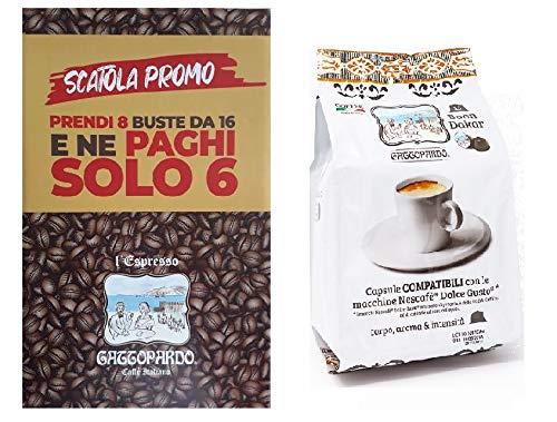 DOLCE GUSTO compatibili 128 Capsule caffè DAKAR GATTOPARDO
