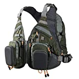 PELLOR Fishing Vest, Backpack Gear Bag for Outdoor Fishing Multi-Pocket Mesh Adjustable Camping Hunting Photography Vest Pack with Pockets Plus Size