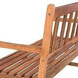 ESTEXO 2-Sitzer Gartenbank aus Akazienholz wetterfest - 3
