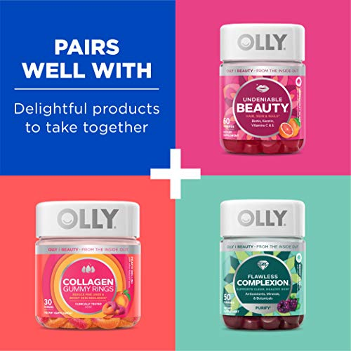 OLLY Glowing Skin Gummy, 25 Day Supply (50 Count), Plump Berry, Hyaluronic Acid, Collagen, Sea Buckthorn, Chewable Supplement (Packaging May Vary) 4