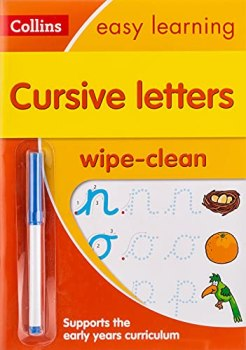 Cursive Letters Age 3-5 Wipe Clean Activity Book: Ideal for home learning (Collins Easy Learning Preschool)