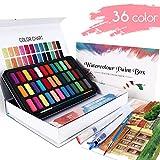 WOSTOO Set de Peinture Aquarelle - 50 pcs - Boîte d'Aquarelle avec 36...
