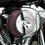 Arlen Ness 18-503 Big Sucker Stage 1 Air Cleaner with Chrome Backing Plate for...