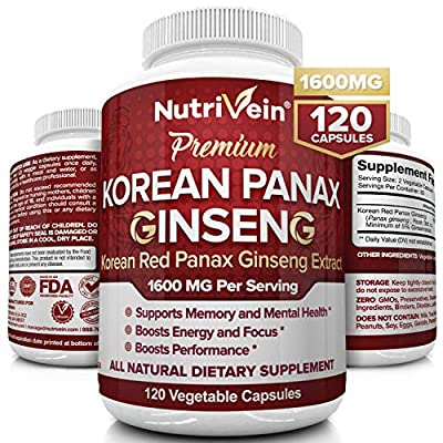 ✔ PRIME YOUR BRAIN FOR MENTAL CLARITY AND ENERGY BOOST - Keeps your mind healthy and active, boosting mental clarity and reaction times, and increasing capacity for abstract thinking and longer memory. Ginseng helps make sure you don't lose your ment...