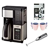 Zojirushi EC-YSC100-XB Fresh Brew Plus Thermal Carafe Coffee Maker with Two 12 Oz. Mugs, Descaler, and Handheld Milk Frother