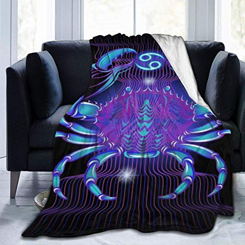 Cancer Zodiac Throw Blanket