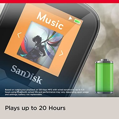 SanDisk-16GB-Clip-Sport-Plus-MP3-Player-Black-Bluetooth-LCD-Screen-FM-Radio-SDMX28-016G-G46K