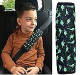 1x HECKBO Dino Dinosaures Protecteur de ceinture de sécurité pour ceinture de sécurité Coussin d'épaule Coussin d'épaule Sièges d'auto Coussin de ceinture de sécurité pour enfants et garçons