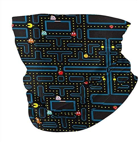 Retro Video Game Pattern Mens Women's Seamless Scarf Balaclava Mask-Neck Gaiter Breathing Cover Mask...