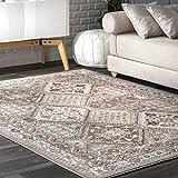 nuLOOM Becca Vintage Tile Area Rug, 9' x 12', Grey