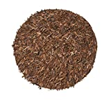 Home Weavers Leather Shaggy Collection Soft Rug, 72' Round, Brown/Saddle