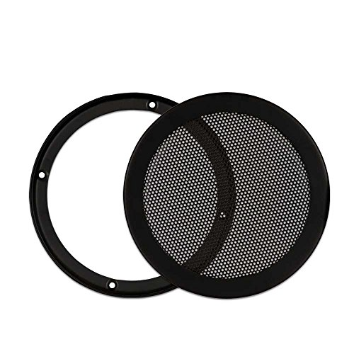 Goldwood Snap On 6.5' Subwoofer Grille Steel Mesh Speaker Black (SGM6)