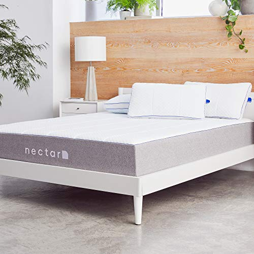 Nectar TwinXL Mattress + 2 Pillows Included - Gel Memory Foam - CertiPUR-US Certified Foams - 180 Night Home Trial - Forever Warranty