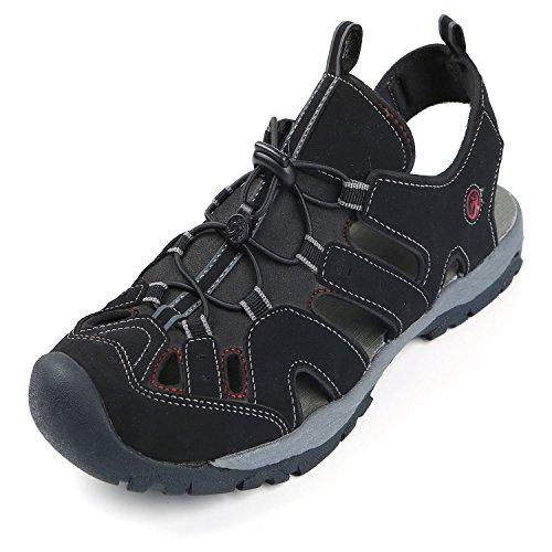 Northside Mens Burke II Sport Athletic Sandal, Black/Red, 13 M US
