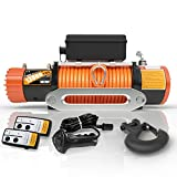 ORCISH 12V 13000-lb Load Capacity Electric Truck Winch Kit Synthetic Rope, Waterproof Off Road Winch for Jeep,Truck,SUV (Synthetic Rope)