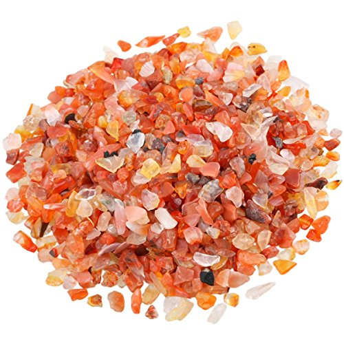 SUNYIK Carnelian Tumbled Chips Stone Crushed Pieces...