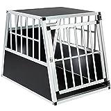 TecTake Box per Trasporto Cani Alluminio trapezoidale - Modelli Differenti - (66x90x69,5cm   No. 401623)