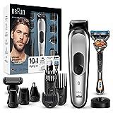 Braun MGK7020 10 en 1, Máquina recortadora barba y cortapelos todo en uno con...