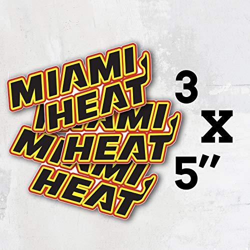 Heat Basketball - Miami Sport Slogan Logo Vinyl Sticker Decal Set of 3 Pieces - 5'' Longer Side
