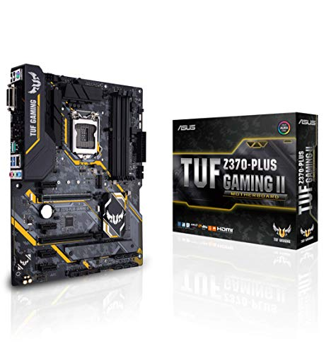ASUS TUF Z370-PLUS Gaming II LGA1151 (Intel 8th Gen) DDR4 HDMI DVI M.2 Z370 II ATX Motherboard with Gigabit LAN and USB 3.1