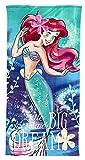 Disney Serviette de bain Princesse Ariel pour fille Tissu microfibre ultra doux...