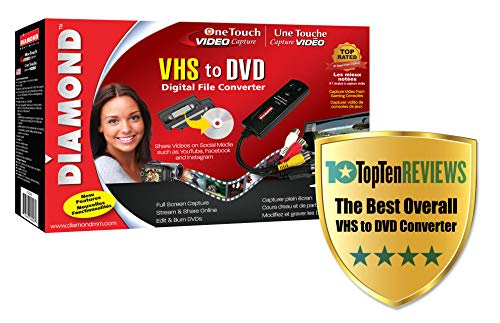 519P+mgV75L - The 7 Best VHS to DVD Converters to Preserve Your Treasured Home Video Memories