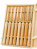 PSI Woodworking LCHSS8 Wood Lathe 8pc HSS Chisel Set