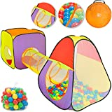 Tente de jeu pour enfants avec Tunnel Fonction pop-up Incl. 200 balles...