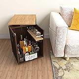 Studio Kook Classic Mini Bar | Engineered Wood Bar Cabinet (Junglewood, Matte Finish)