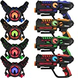 ArmoGear Laser Tag – Laser Tag Guns with Vests Set of 4 – Multi Player Laser Tag Set for Teenager Kids and Adults – Home or Backyard & Outdoor Game for Kids, Adults, and Family