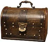 LHSUNTA Cajas de Almacenamiento de Madera Cajas de joyería Caja de decoración de Almacenamiento Retro Cofres de Almacenamiento de baratijas de joyería Vintage Caja de Madera Decorativa (Co