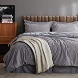 Bedsure Full/Queen Comforter Set, 8 Pieces Jacquard Bed in a Bag Bed Set with Comforter and Sheets, Grey Reversible All Season Down Alternative Bedding Comforter Sets(88'x88')