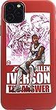 NBA iPhoneケース Allen Iverson アレン アイバーソン レッド 液晶フィルム付き (iPhone11) [……