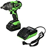 OEMTOOLS 24486 20V Max Li-ion Brushless 1/2' Impact Wrench   High-Performance Motor Produces More Torque, Runs Longer, and Lasts Longer   Up to 3000 IPM & 2600 RPM   Green & Black
