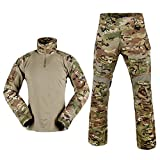 SINAIRSOFT Men Military Army Tactical Series Airsoft Paintball Hunting Swat Uniform Combat Gen3 Multicam Shirt & Pants & Knee Pads