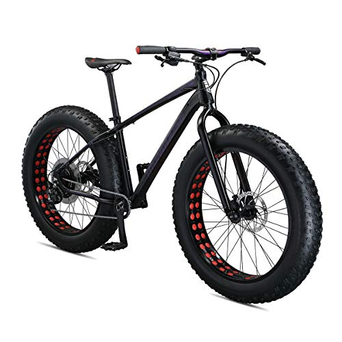 Mongoose Argus Sport Adult Fat Tire Mountain Bike, 26-inch Wheels, Tetonic T2 Aluminum Frame, Hydraulic Disc Brakes, Large Frame, Black