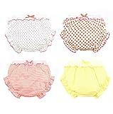Lot de 4 tout-petits bébé filles à volants Bloomer Shorts Couche-culotte en coton Slips Slips Sous-vêtements