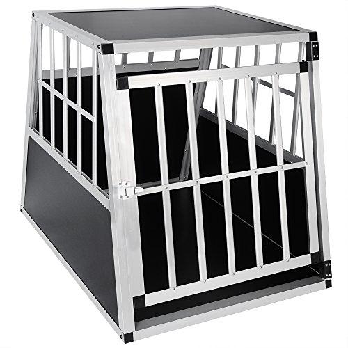 EUGAD Cage Aluminium de Chien Cage de tansport avec 1 Porte,Noir 0046HT