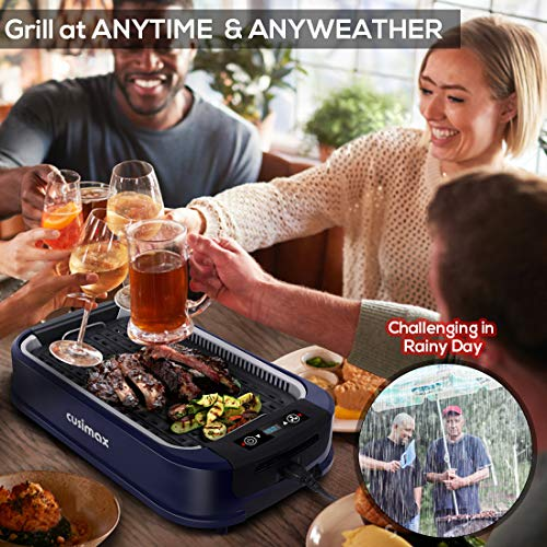 Product Image 2: Indoor Grill Electric Grill Griddle CUSIMAX Smokeless Grill, <a href=