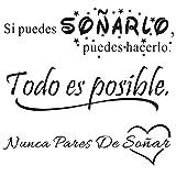 3pcs Pegatinas Pared Vinilos Frases Motivadoras Citas Inspiradoras Español Letras Stickers...