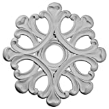 Ekena Millwork CM20AN Angel Ceiling Medallion, 20 7/8'OD x 3 5/8'ID x 1'P (Fits Canopies up to 4 3/8'), Factory Primed
