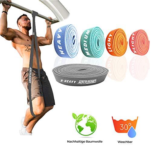 ActiveVikings - Fasce fitness in tessuto pull-up, perfette per la costruzione di muscoli e Crossfit...