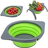 DLD ollapsible Colander Strainer, Storage Basket Drainer for Fruit...