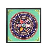 Mandala Thangka Yoga Cartel Retro Arte Lienzo Pintura Sala Decoración Mural Sin Marco 50x50cm