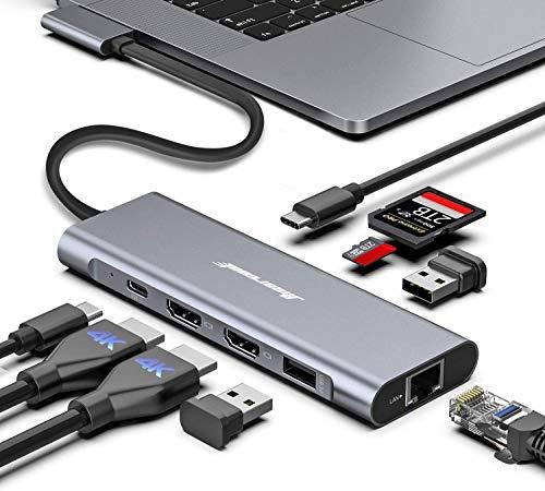 MacBook Pro Docking Station, 4K Triple Display Hiearcool 9 in 2 Laptop Docking Station Compatib…
