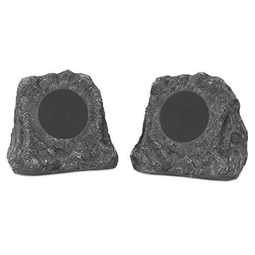 Innovative Technology Outdoor Rock Speaker Pair - Wireless Bluetooth Speakers for Garden, Patio |...