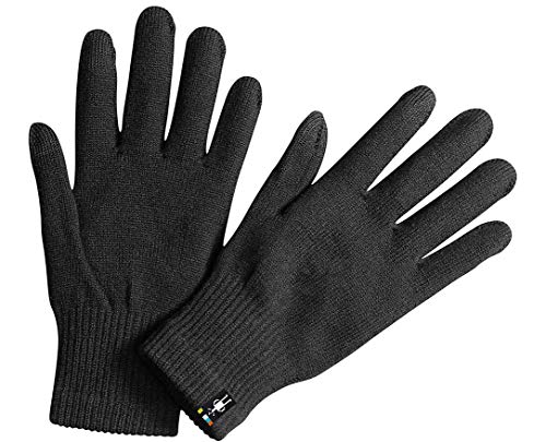 Smartwool Merino Wool Liner Glove - Touch Screen Compatible Design for Men and Women (Black, M)